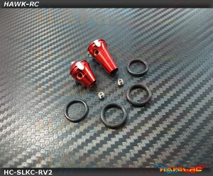 Hawk TX Switch Knobs Cap Red Long & Short V2 (2pcs, Fit All Brand TX)